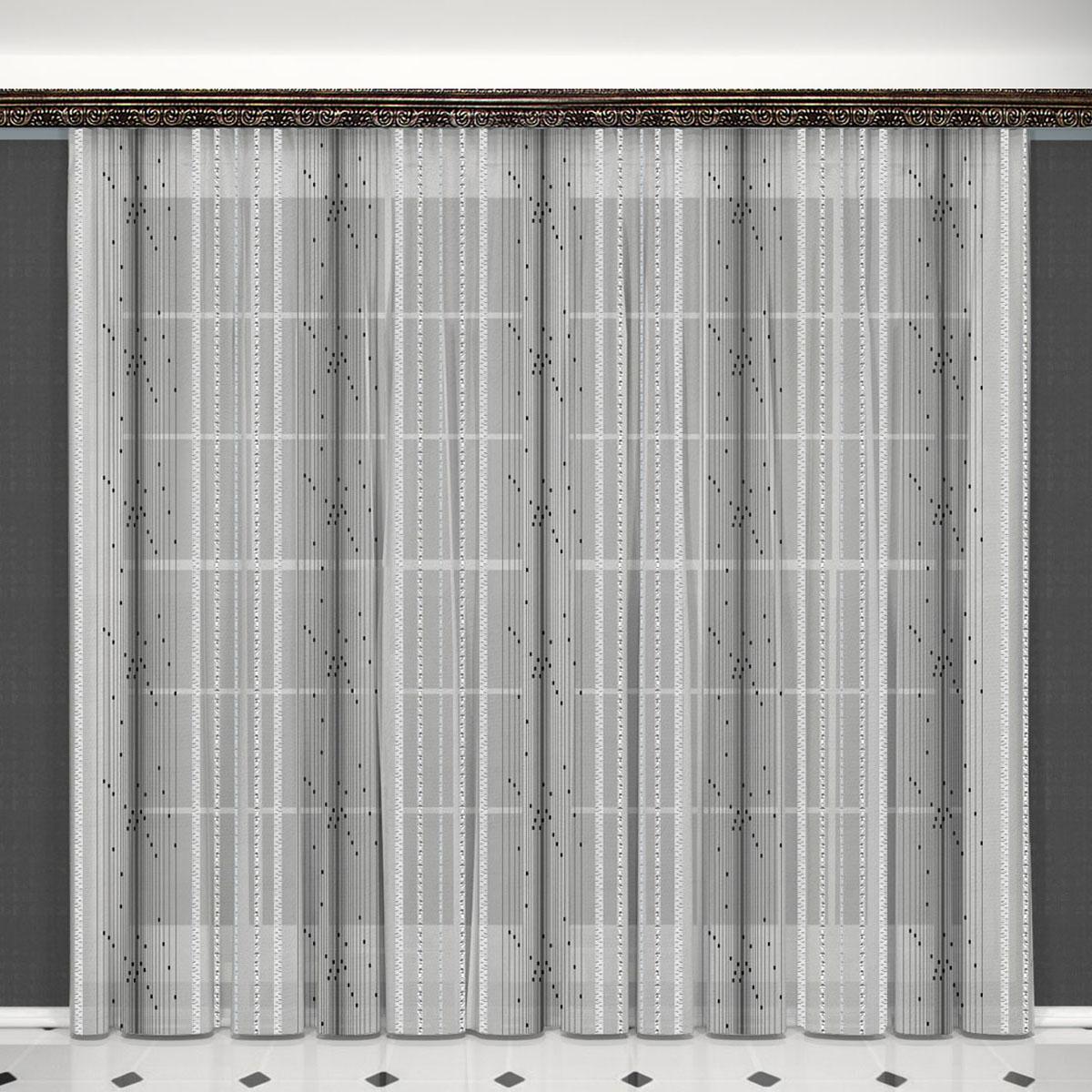 Гардина Zlata Korunka, на ленте, цвет: серый, высота 260 см. 5563355633Воздушная гардина Zlata Korunka, изготовленная из высококачественного полиэстера, станет великолепным украшением любого окна. Оригинальное оформление гардины внесет разнообразие и подарит заряд положительного настроения. Крепится при помощи шторной ленты.