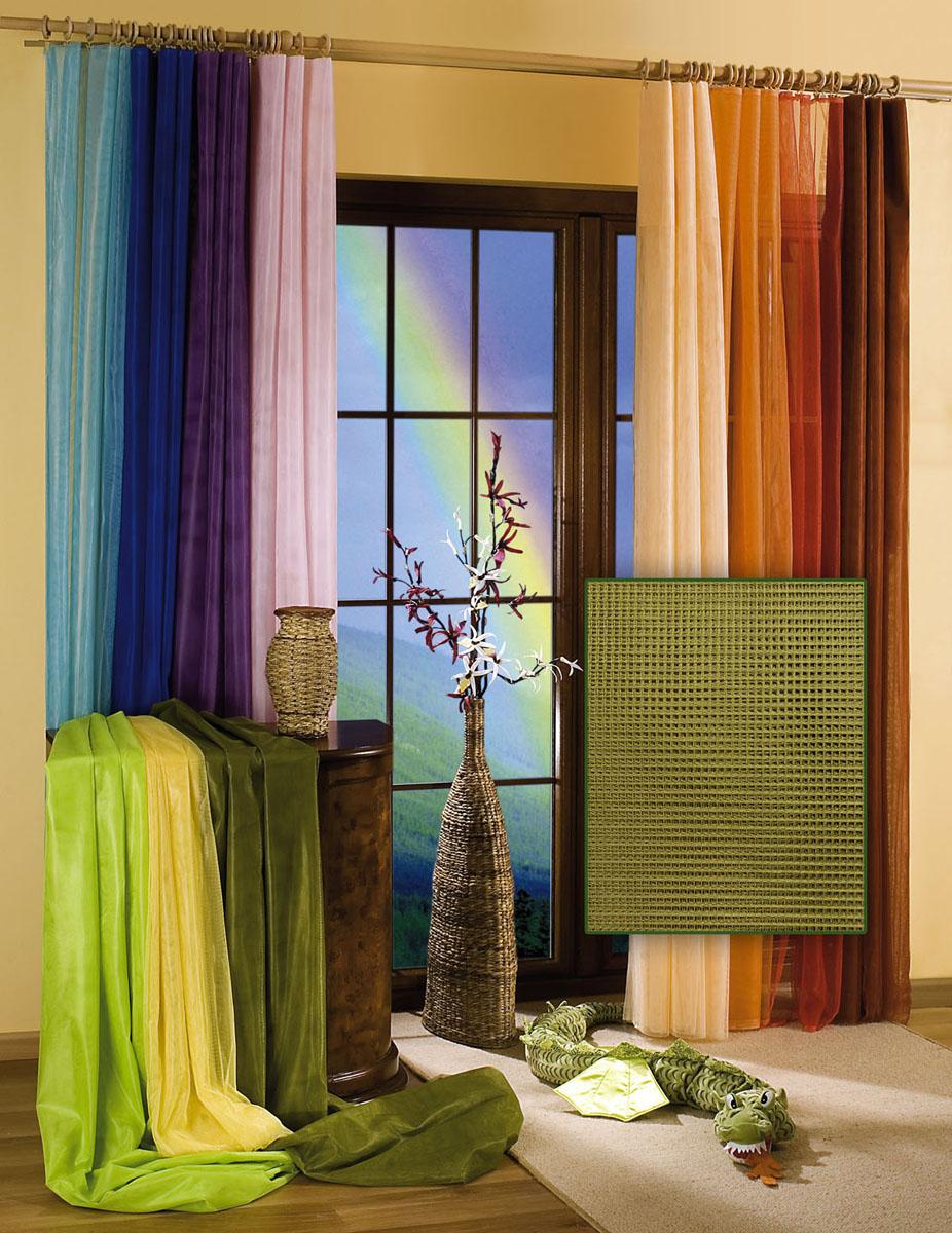 Гардина Wisan, цвет: оливковый, ширина 150 см, высота 250 см5896 оливковыйГардина-тюль из жесткой сеточки, с вшитой шторной лентой. Размеры: ширина 150* высота 250