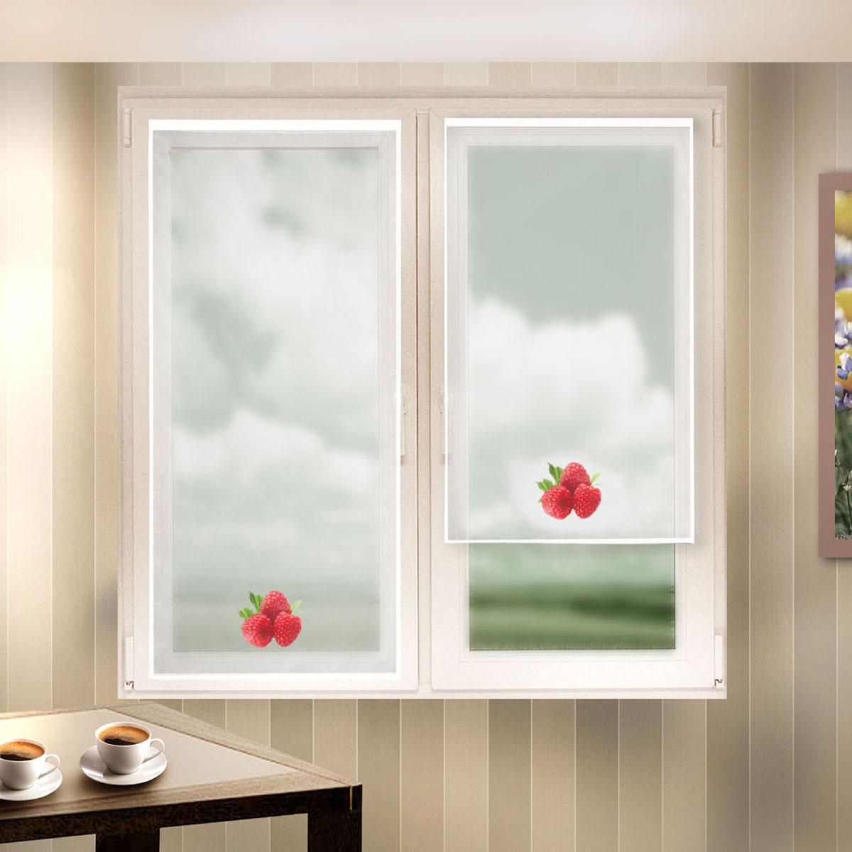 Гардина Zlata Korunka, цвет: белый, высота 90 см. 666054-2666054-2Шторы из материала вуаль, для кухни, белого цвета с печатным рисунком. Крепление на липкой ленте, не требующее сверления стен и карниза. Многоразовое и мгновенное крепление. Штора 2 шт.- шир.60 х выс.90 Размеры: (ширина 60* высота 90)*2