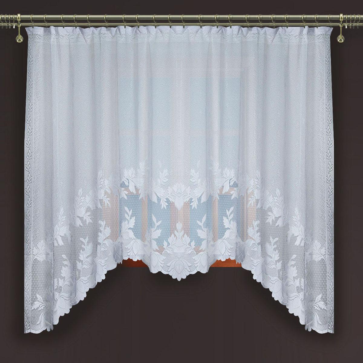 Гардина Zlata Korunka, цвет: белый, ширина 250 см, высота 160 см88867Гардина из тюле-кружевного полотна, крепление на зажимах для штор.,160*250 Размеры: 160*250