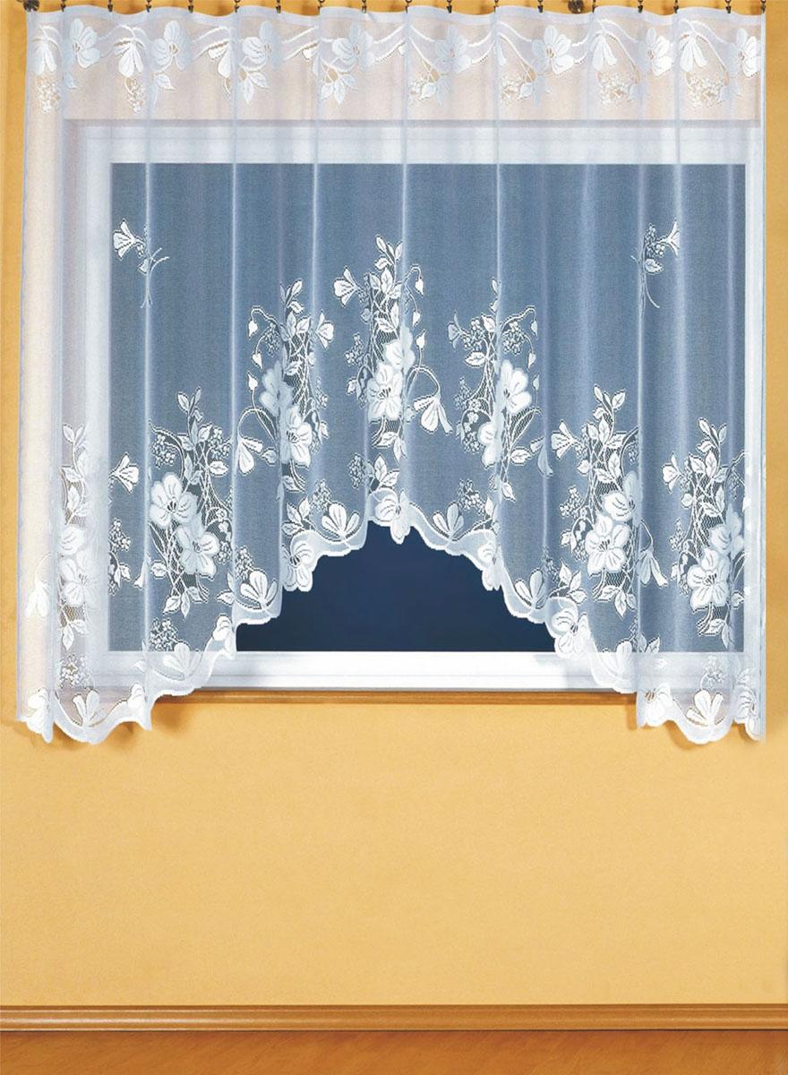 Гардина Wisan, цвет: белый, ширина 300 см, высота 180 см. 91619161Гардина белого цвета из жаккардовой ткани под балконный блок на прилегающее окно. Размеры: шир. 300*выс.180