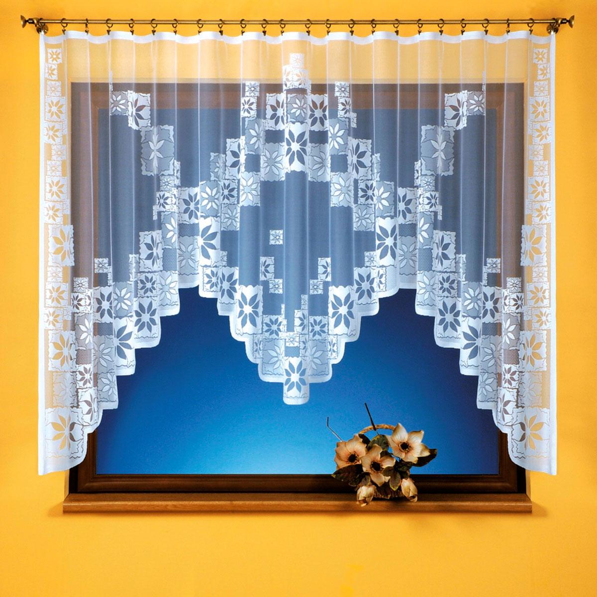 Гардина Wisan, цвет: белый, ширина 330 см, высота 170 см. 92999299вид крепления - под зажимы для штор Размеры: 330*170