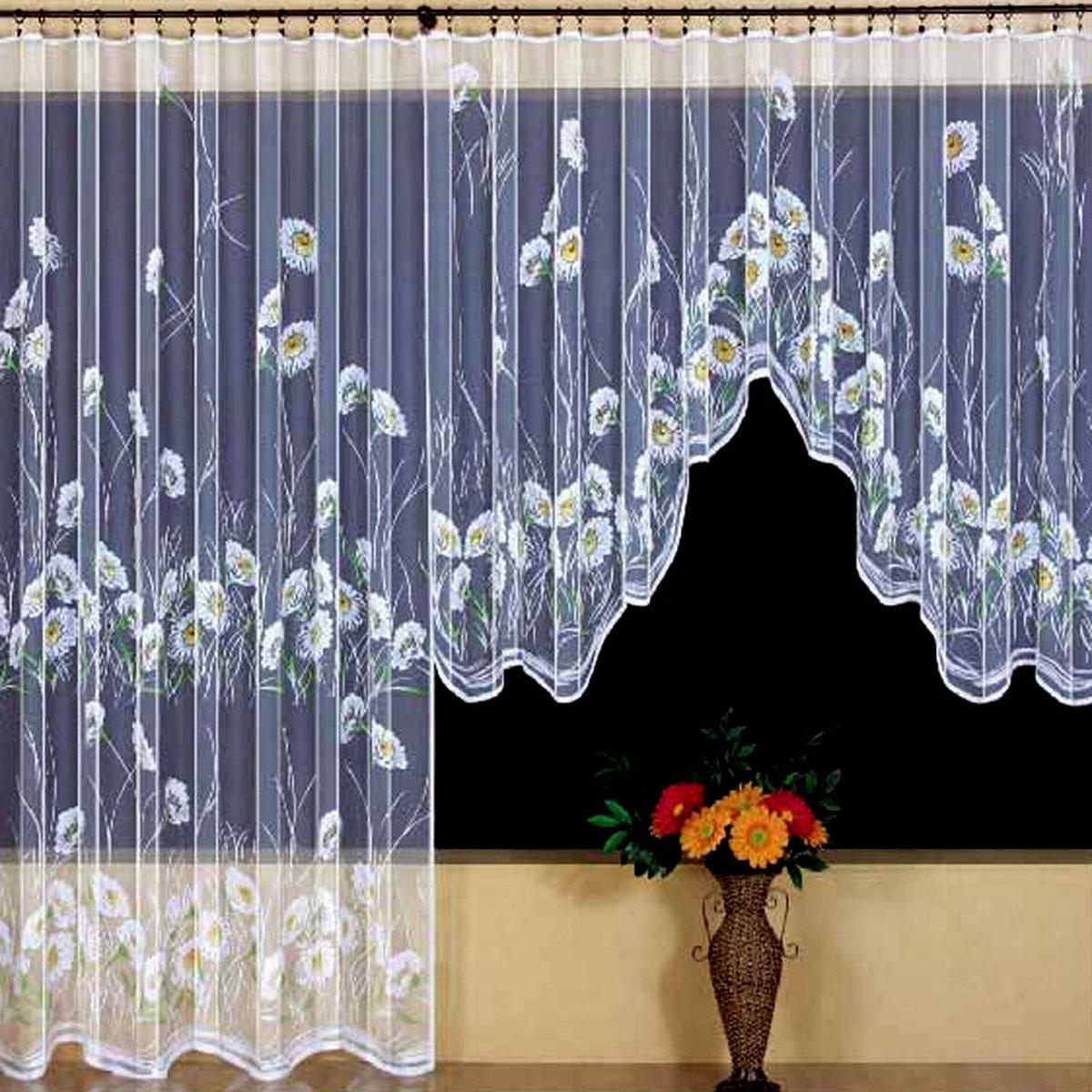 Гардина Wisan, цвет: белый, ширина 350 см, высота 160 см. 93819381вид крепления - под зажимы для штор Размеры: ш.350* в.160