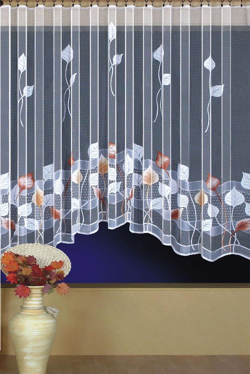 Гардина Wisan, цвет: белый, ширина 300 см, высота 180 см. 93969396вид крепления - под зажимы для штор Размеры: ш.300* в.180