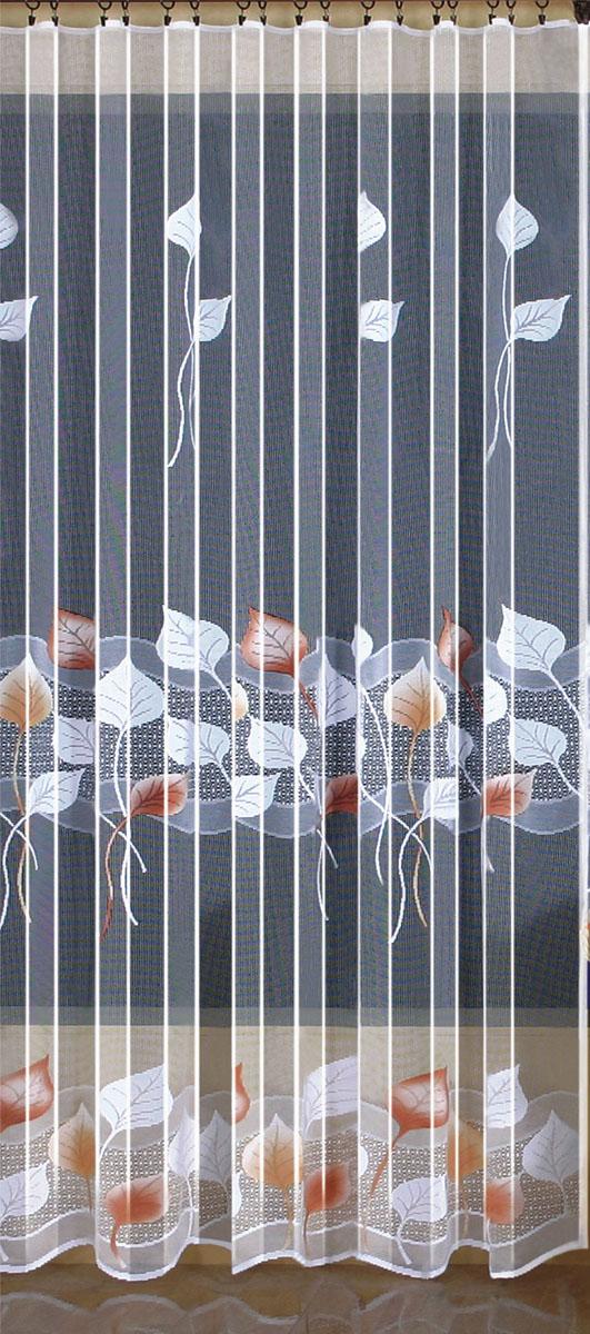 Гардина Wisan, цвет: белый, ширина 200 см, высота 250 см. 94039403вид крепления - под зажимы для штор Размеры: ш.200* в.250