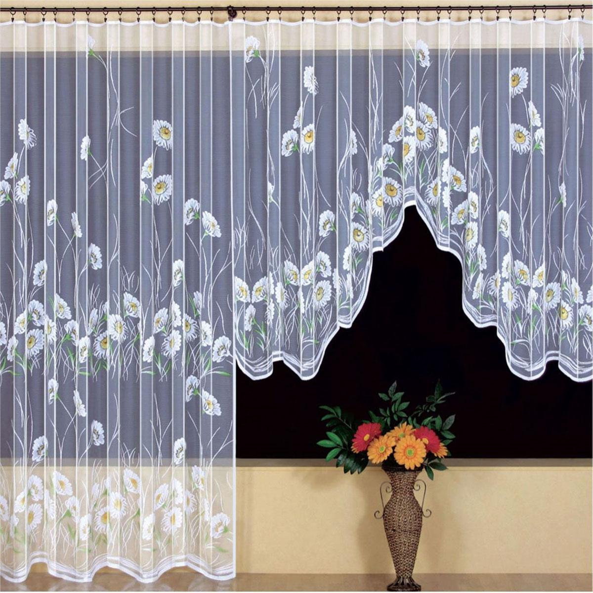 Гардина Wisan, цвет: белый, ширина 200 см, высота 250 см. 94259425вид крепления - под зажимы для штор Размеры: ш.200* в.250