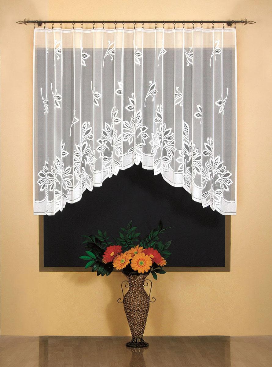 Гардина Wisan, цвет: белый, ширина 300 см, высота 150 см. 94859485Гардина жаккардовая, крепление зажимы для штор, можно взять в комплекте с арт. 9486 Размеры: ширина 300*высота 150