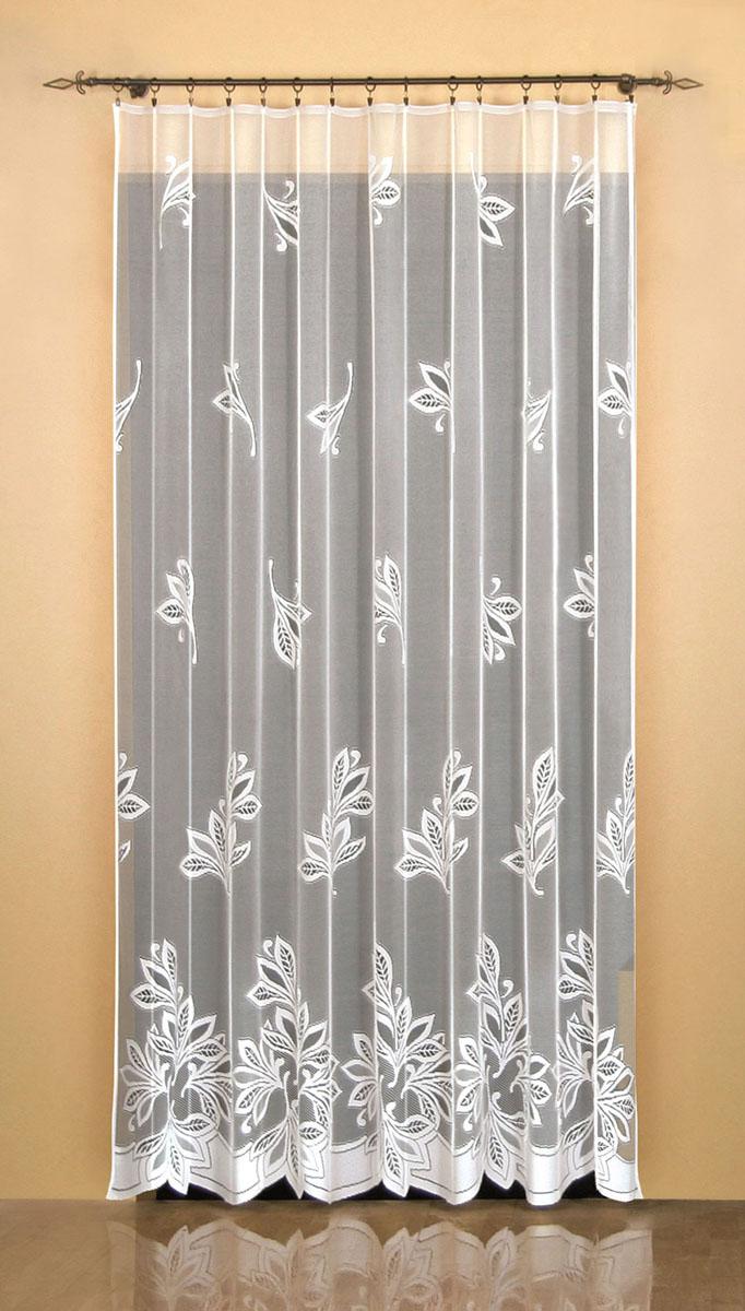 Гардина Wisan, цвет: белый, ширина 200 см, высота 250 см. 94869486Гардина жаккардовая, крепление зажимы для штор, можно взять в комплекте с арт. 9485 Размеры: 200*250