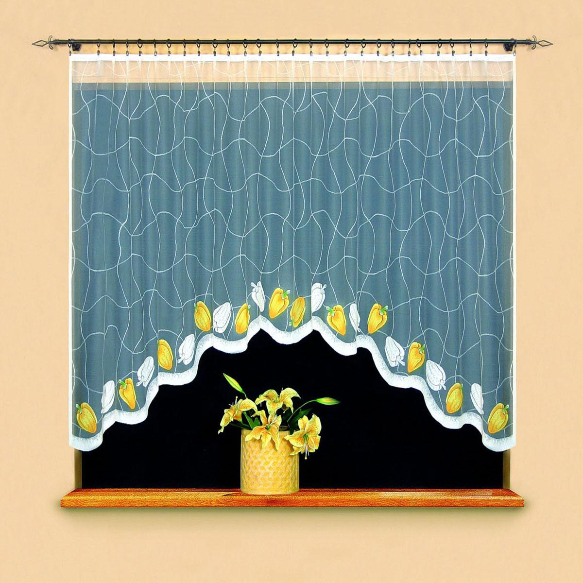 Гардина Wisan, цвет: белый, ширина 220 см, высота 120 см. 95069506вид крепления - под зажимы для штор Размеры: 220*120