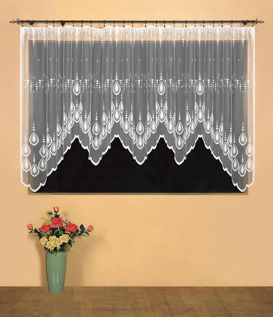 Гардина Wisan, цвет: белый, ширина 400 см, высота 160 см. 95199519вид крепления - под зажимы для штор Размеры: ш.400* в.160