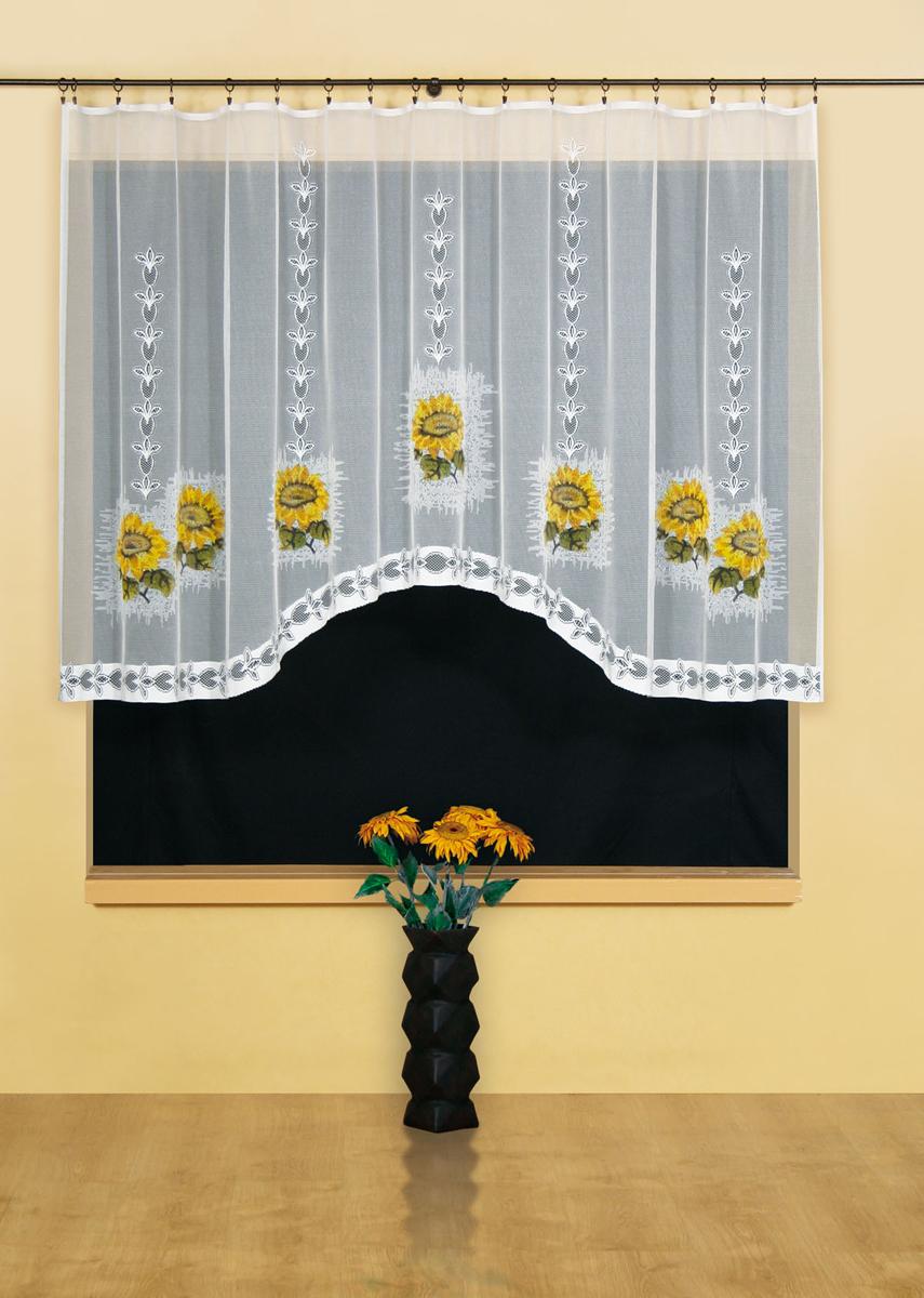 Гардина Wisan, цвет: белый, ширина 300 см, высота 150 см. 95539553Гардина жаккардовая, крепление зажимы для штор. Размеры: ширина 300*высота 150