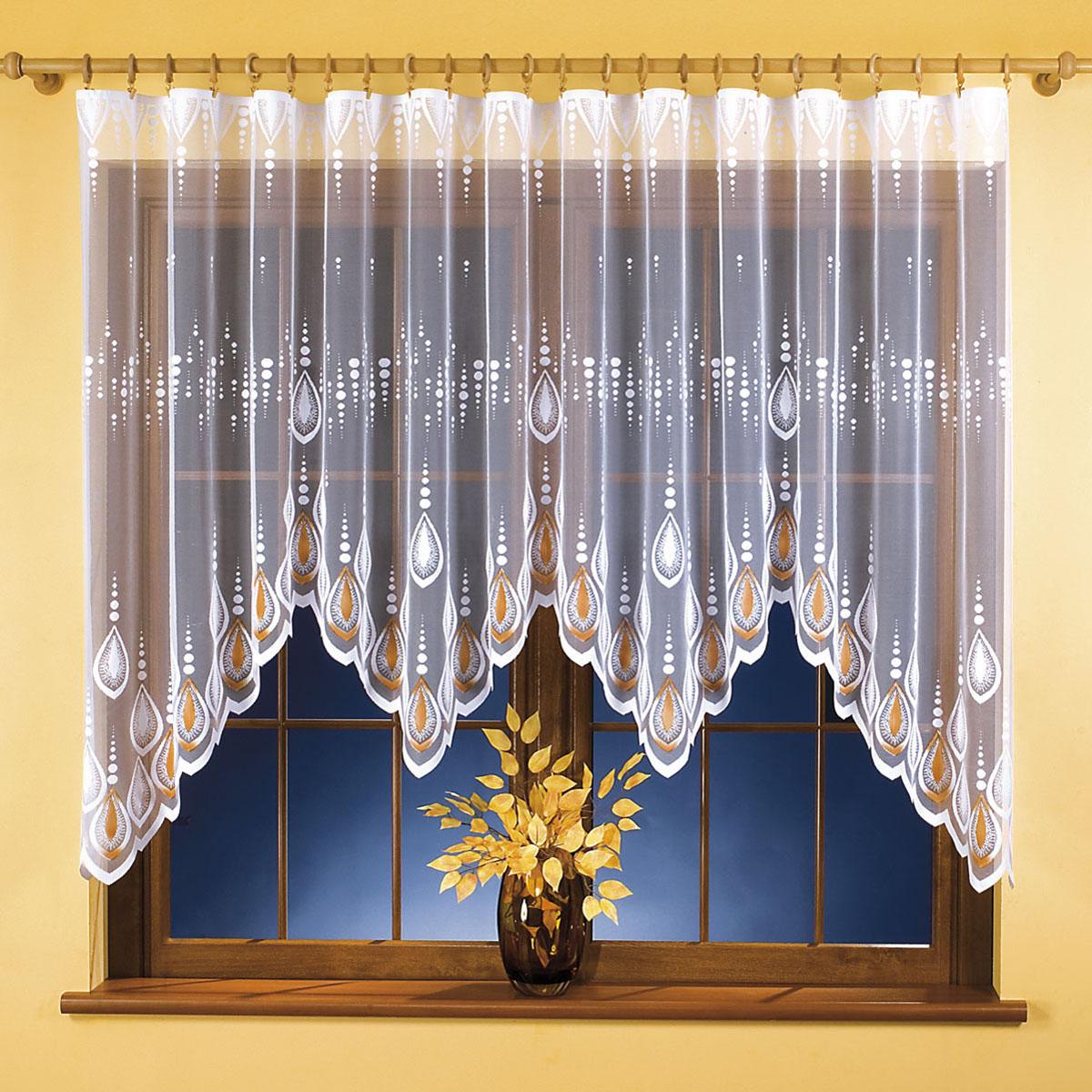 Гардина Wisan, цвет: белый, ширина 300 см, высота 150 см. 96419641вид крепления - под зажимы для штор Размеры: ширина 300*высота 150