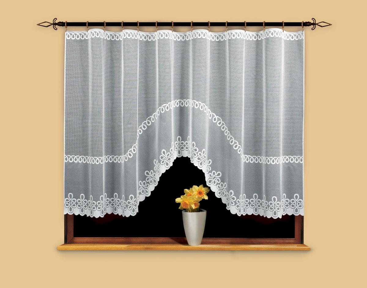 Гардина Wisan, цвет: белый, ширина 300 см, высота 150 см. 96699669Гардина жаккардовая, крепление зажимы для штор. Размеры: ширина 300*высота 150
