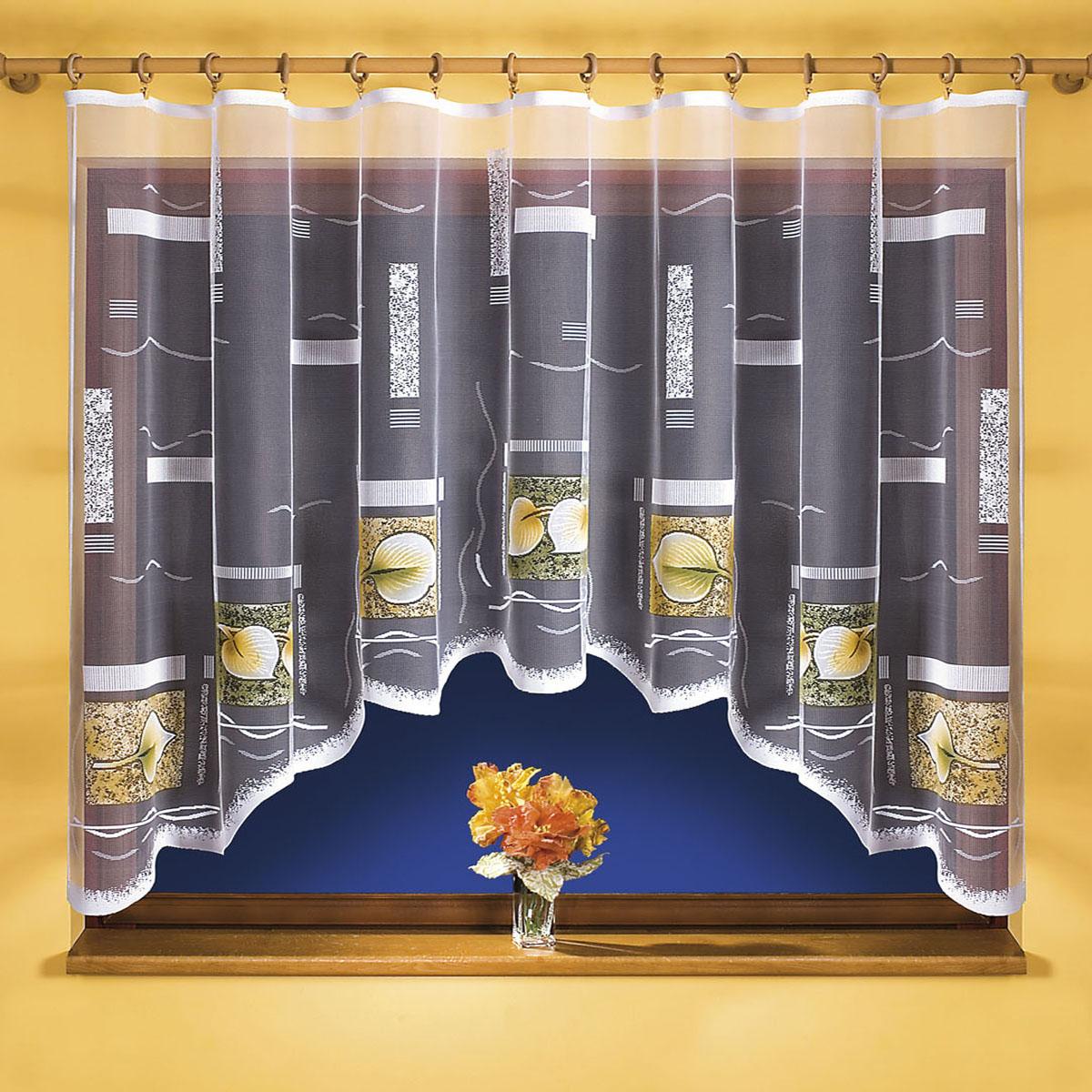 Гардина Wisan, цвет: белый, ширина 300 см, высота 150 см. 96719671вид крепления - под зажимы для штор Размеры: ширина 300*высота 150