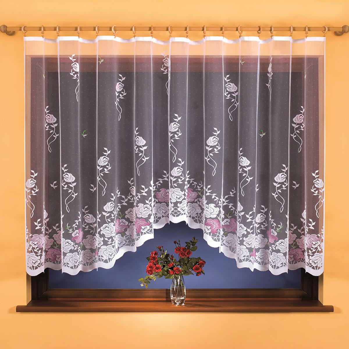 Гардина Wisan, цвет: белый, ширина 300 см, высота 150 см. 97019701вид крепления - под зажимы для штор Размеры: ширина 300*высота 150