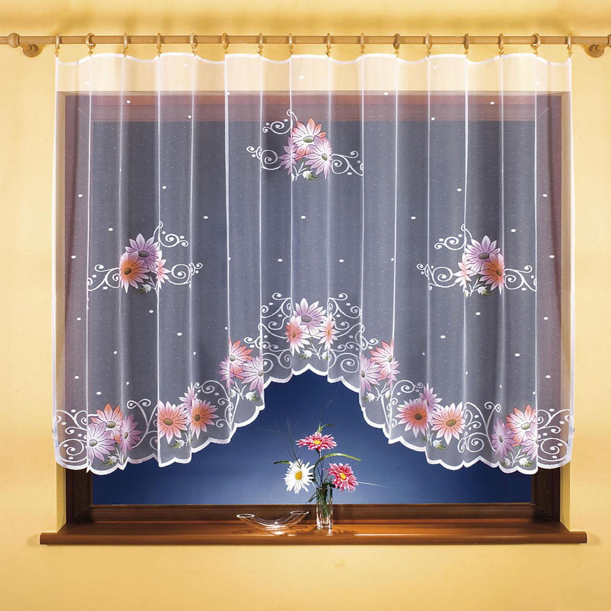 Гардина Wisan, цвет: белый, ширина 300 см, высота 150 см. 98109810вид крепления - под зажимы для штор Размеры: ширина 300*высота 150