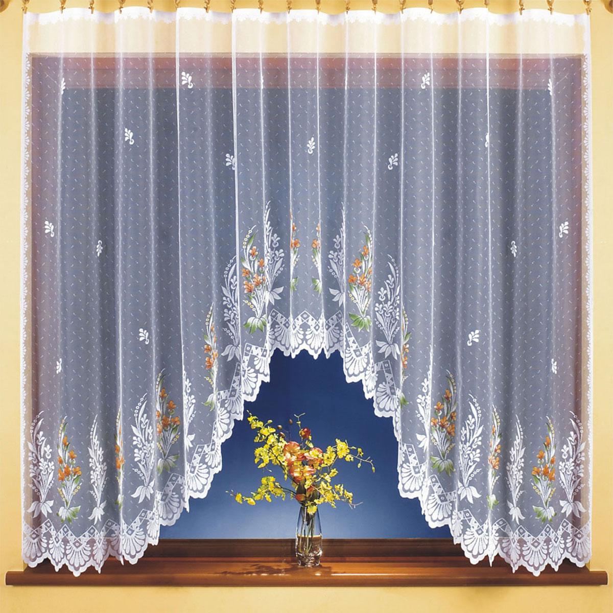 Гардина Wisan, цвет: белый, ширина 300 см, высота 150 см. 98129812вид крепления - под зажимы для штор Размеры: ширина 300*высота 150