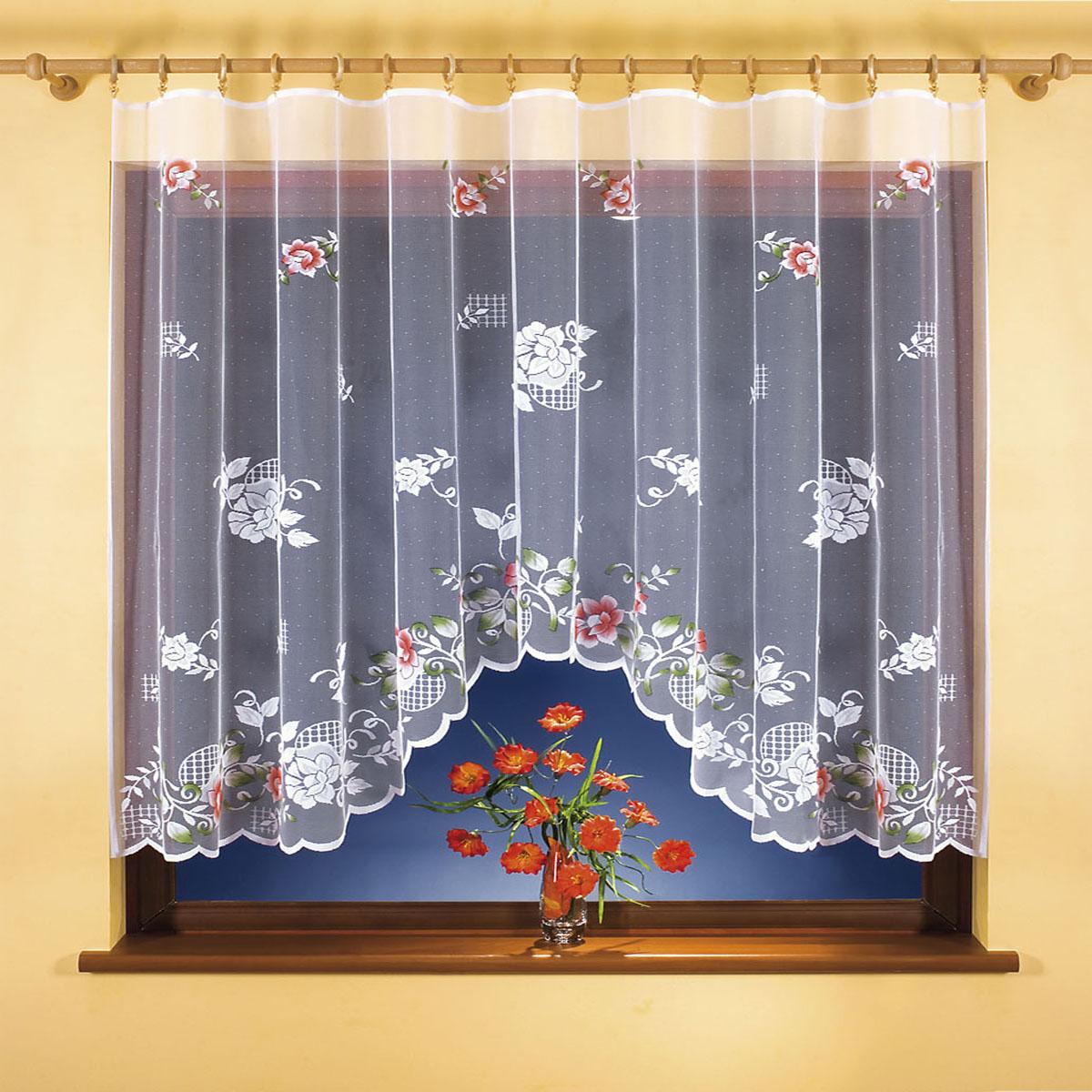 Гардина Wisan, цвет: белый, ширина 300 см, высота 150 см. 9840-19840-1вид крепления - под зажимы для штор Размеры: ширина 300*высота 150