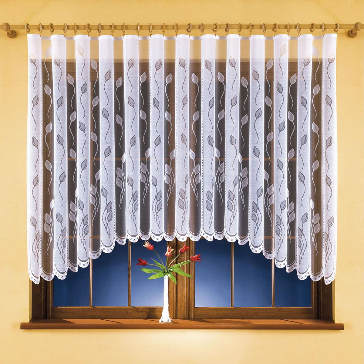 Гардина Wisan, цвет: белый, ширина 300 см, высота 150 см. 99259925вид крепления - под зажимы для штор Размеры: ширина 300*высота 150