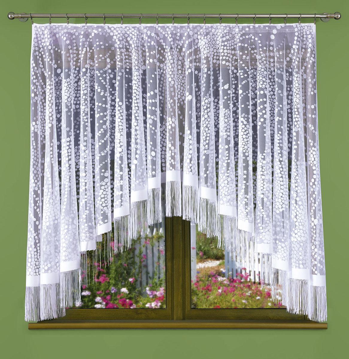 Гардина Wisan, цвет: белый, ширина 170 см, высота 180 см441ЕГардина жаккардовая, крепление зажимы для штор. Размеры: 170*180