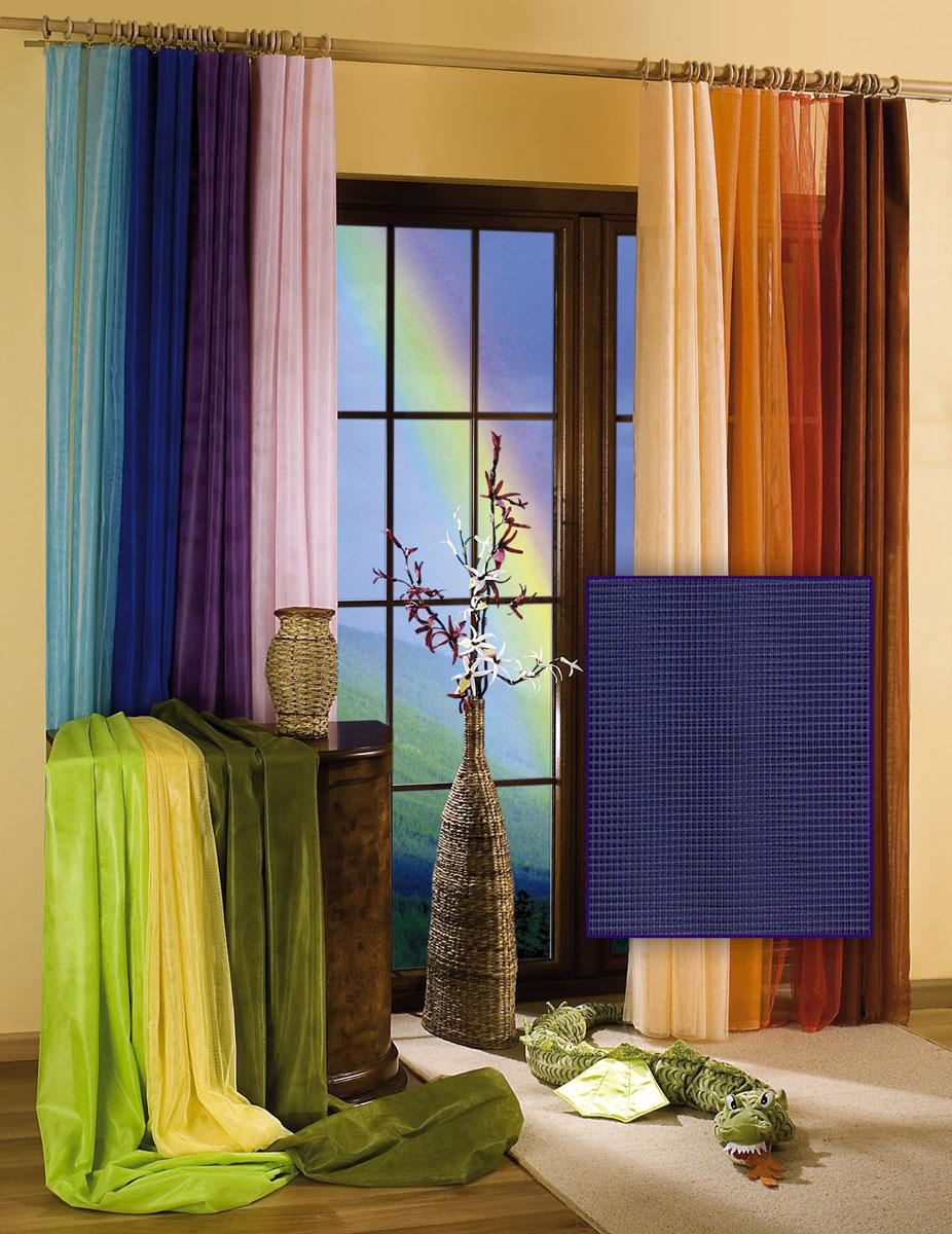 Гардина-тюль Wisan, цвет: темно-синий, ширина 150 см, высота 250 см5896 т.синийГардина-тюль из жесткой сеточки, с вшитой шторной лентой. Размеры: шир.150*выс.250
