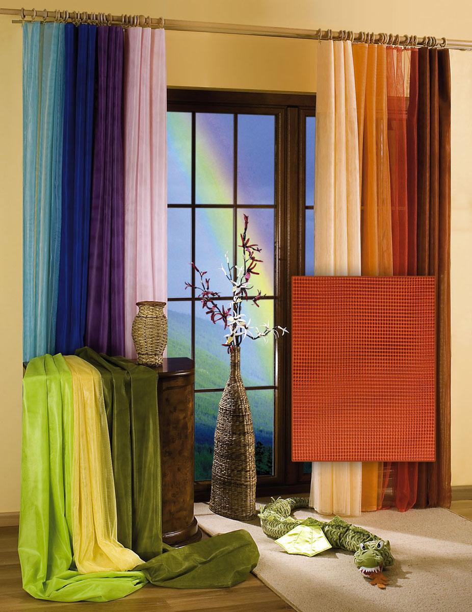 Гардина-тюль Wisan, цвет: терракотовый, ширина 150 см, высота 250 см5896 терракотГардина-тюль из жесткой сеточки, с вшитой шторной лентой. Размеры: ширина 150*выс.250