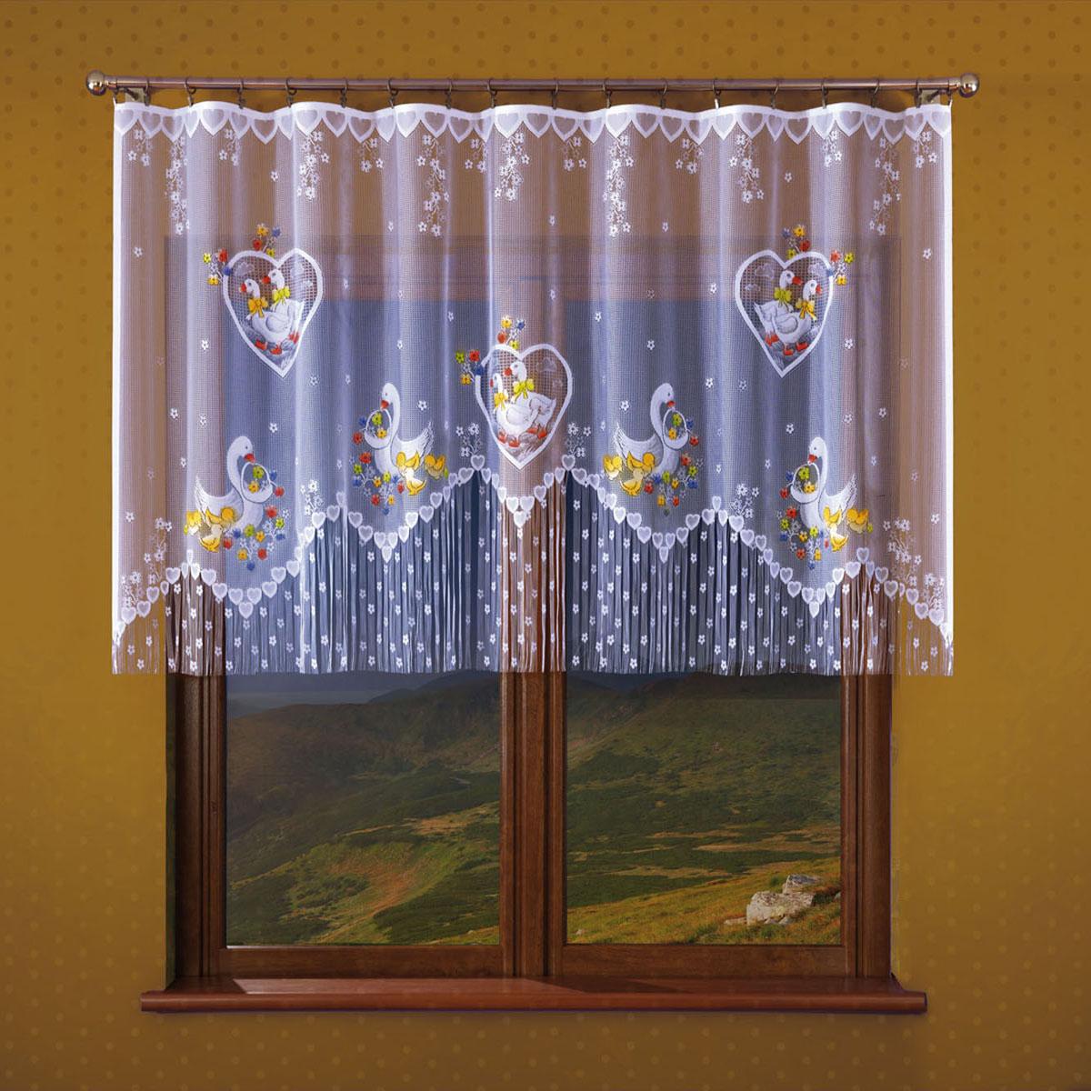 Гардина Wisan, цвет: белый, ширина 250 см, высота 120 см. 179Е179Евид крепления - под зажимы для штор Размеры: ширина 250*высота 120