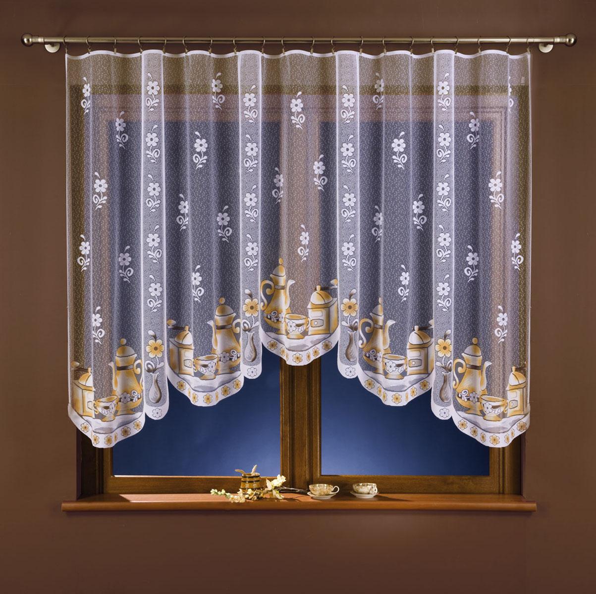Гардина Wisan, цвет: белый, ширина 300 см, высота 150 см. 179А179Авид крепления - под зажимы для штор Размеры: ширина 300*высота 150