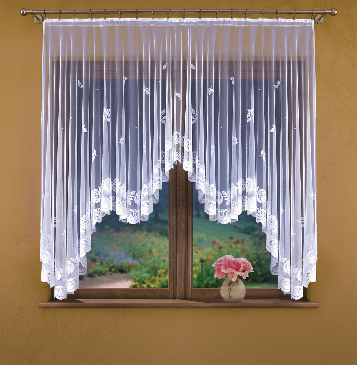 Гардина Wisan, цвет: белый, ширина 170 см, высота 170 см. 317Е317ЕГардина жаккардовая, крепление зажимы для штор. Размеры: ширина 170*высота 170