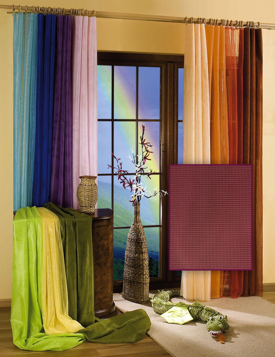 Гардина-тюль Wisan, цвет: фиолетовый, ширина 150 см, высота 250 см5896 фиолетовыйГардина-тюль из жесткой сеточки, с вшитой шторной лентой. Размеры: ширина 150* высота 250