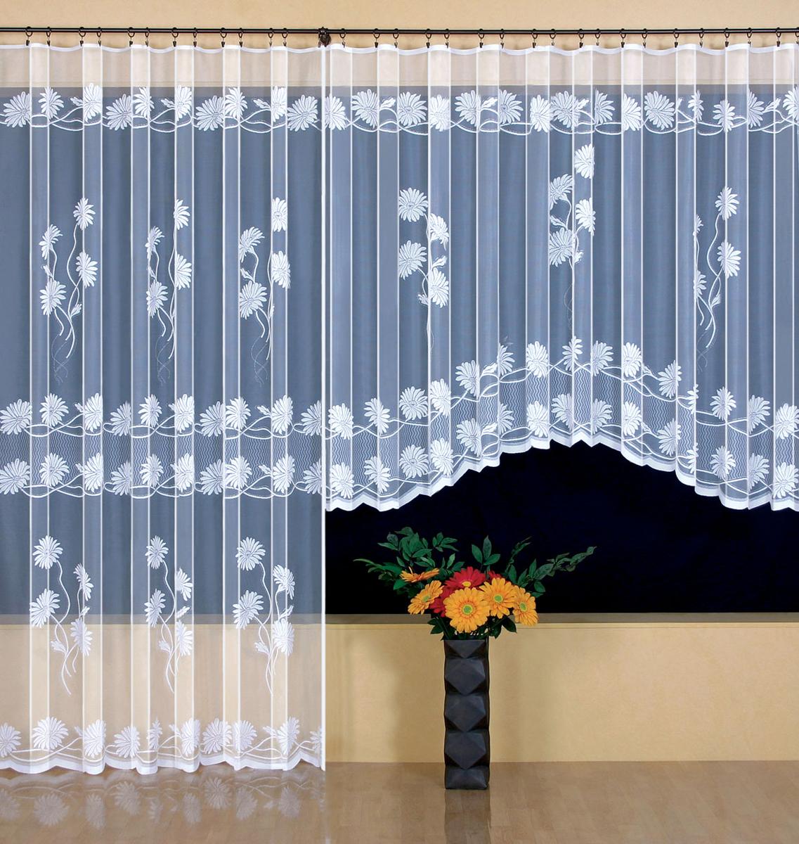 Гардина Wisan, цвет: белый, ширина 300 см, высота 160 см. 94189418Гардина жаккардовая, крепление зажимы для штор, можно взять в комплекте с арт. 9410 Размеры: высота160х ширина300
