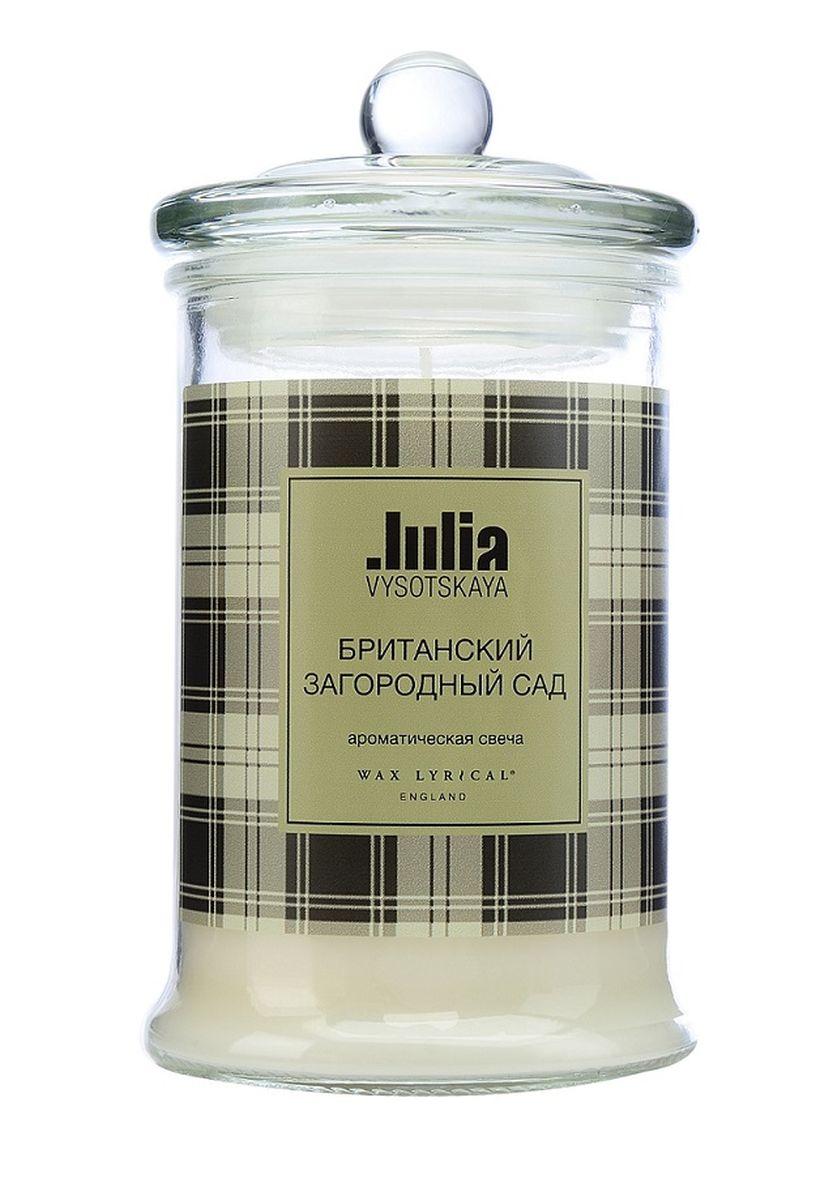 Свеча ароматизированная Wax Lyrical Юля Высоцкая, британский загородный сад, 850 гJV0302Душистая травянисто-цветочная композиция с нотками нежного гиацинта, белого ландыша и классической британской розы.