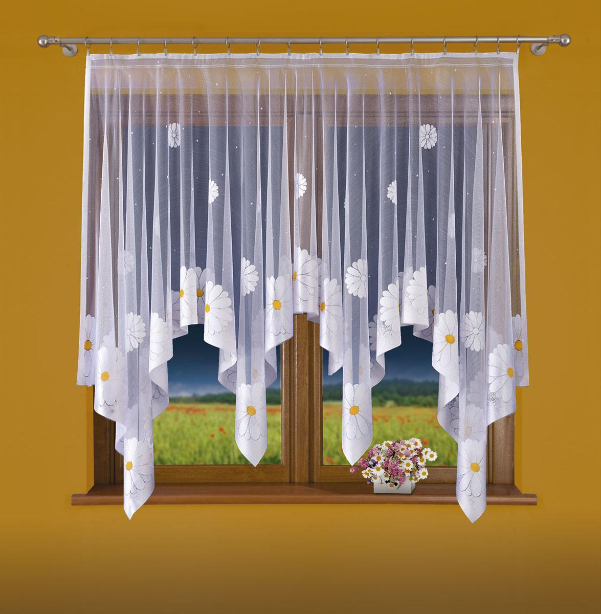 Гардина Wisan, цвет: белый, ширина 200 см, высота 160 см. 696Е696ЕГардина жаккардовая, крепление зажимы для штор. Размеры: 200*160
