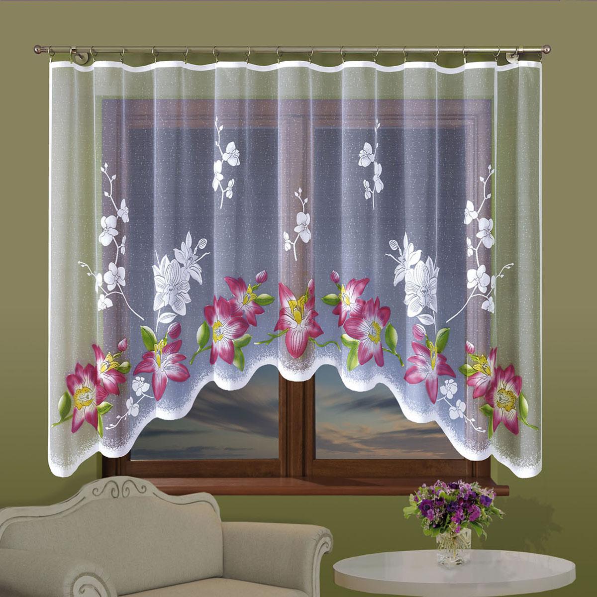 Гардина Wisan, цвет: белый, ширина 300 см, высота 160 см. 702Е702ЕГардина жаккардовая, крепление зажимы для штор. Размеры: 300*160