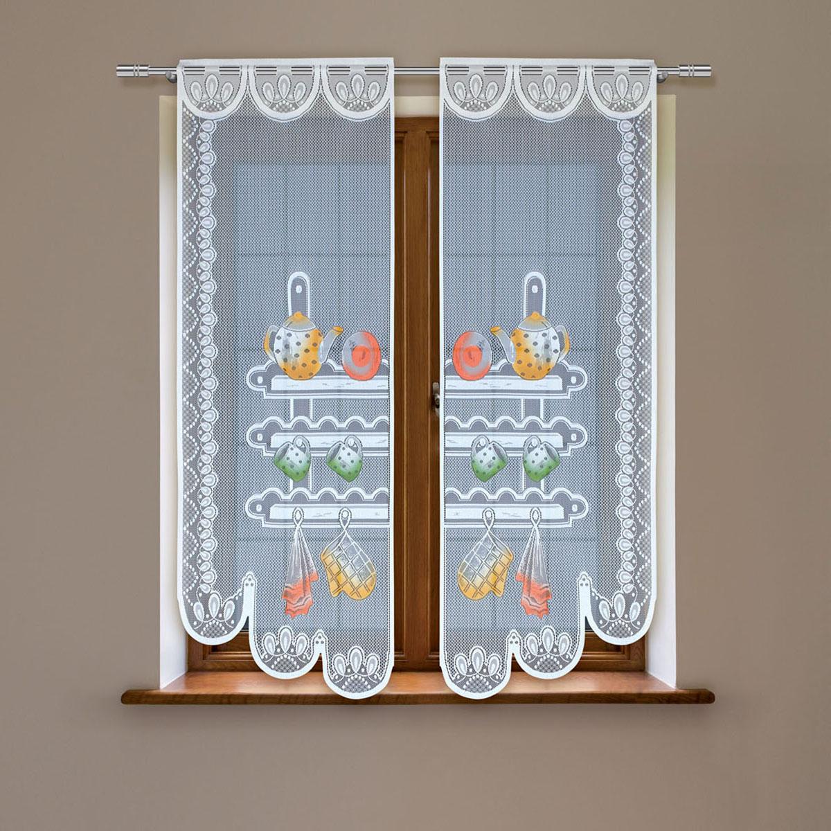 Гардина Haft, цвет: белый, высота 160 см. 8603С/608603С/60Гардина имеет в верхней части полотна прорези, через которые гардина-витраж вывешивается на карниз или можно крепить на зажим для штор,котрый в комплект не входит.Комплект состоит из двух полотен (выс.160* шир.60) Размеры: (высота 160* ширина 60)*2