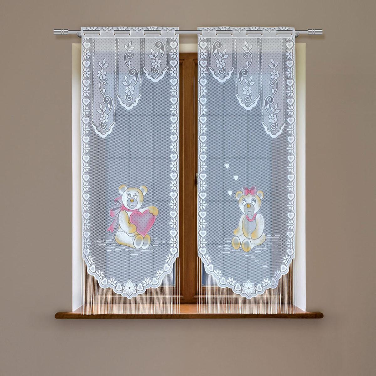 Гардина Haft, цвет: белый, высота 160 см. 8148С/608148С/60Гардина имеет в верхней части полотна прорези, через которые гардина-витраж вывешивается на карниз или можно крепить на зажим для штор,котрый в комплект не входит.Комплект состоит из двух полотен (выс.160* шир.60) Размеры: (высота 160* ширина 60)*2
