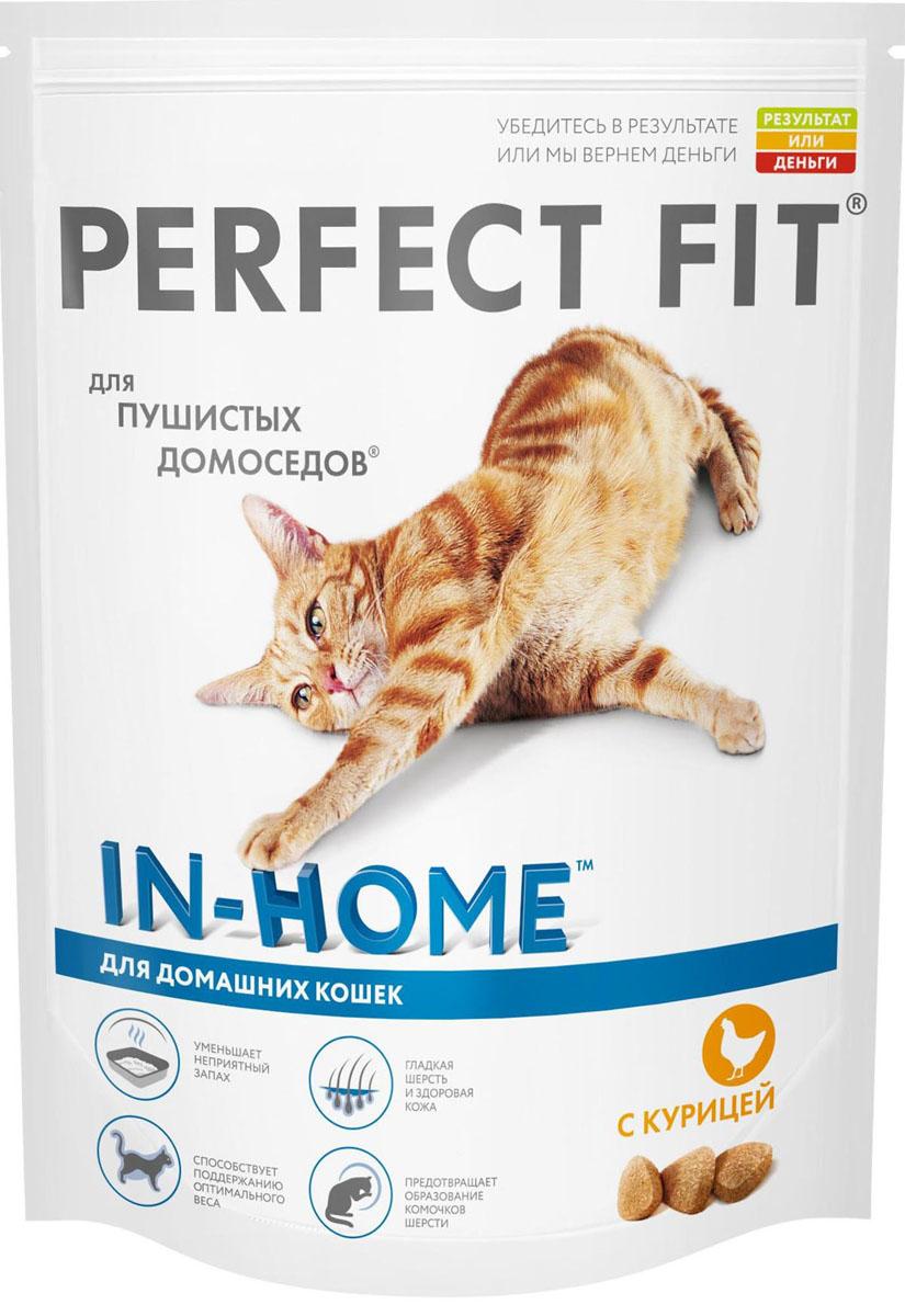 Корм сухой для домашних кошек Perfect Fit, с курицей, 650 г41033