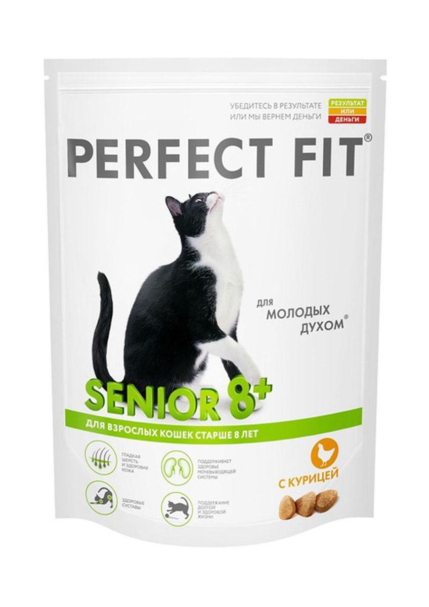 Корм сухой для зрелых кошек Perfect Fit, с курицей, 650 г41040