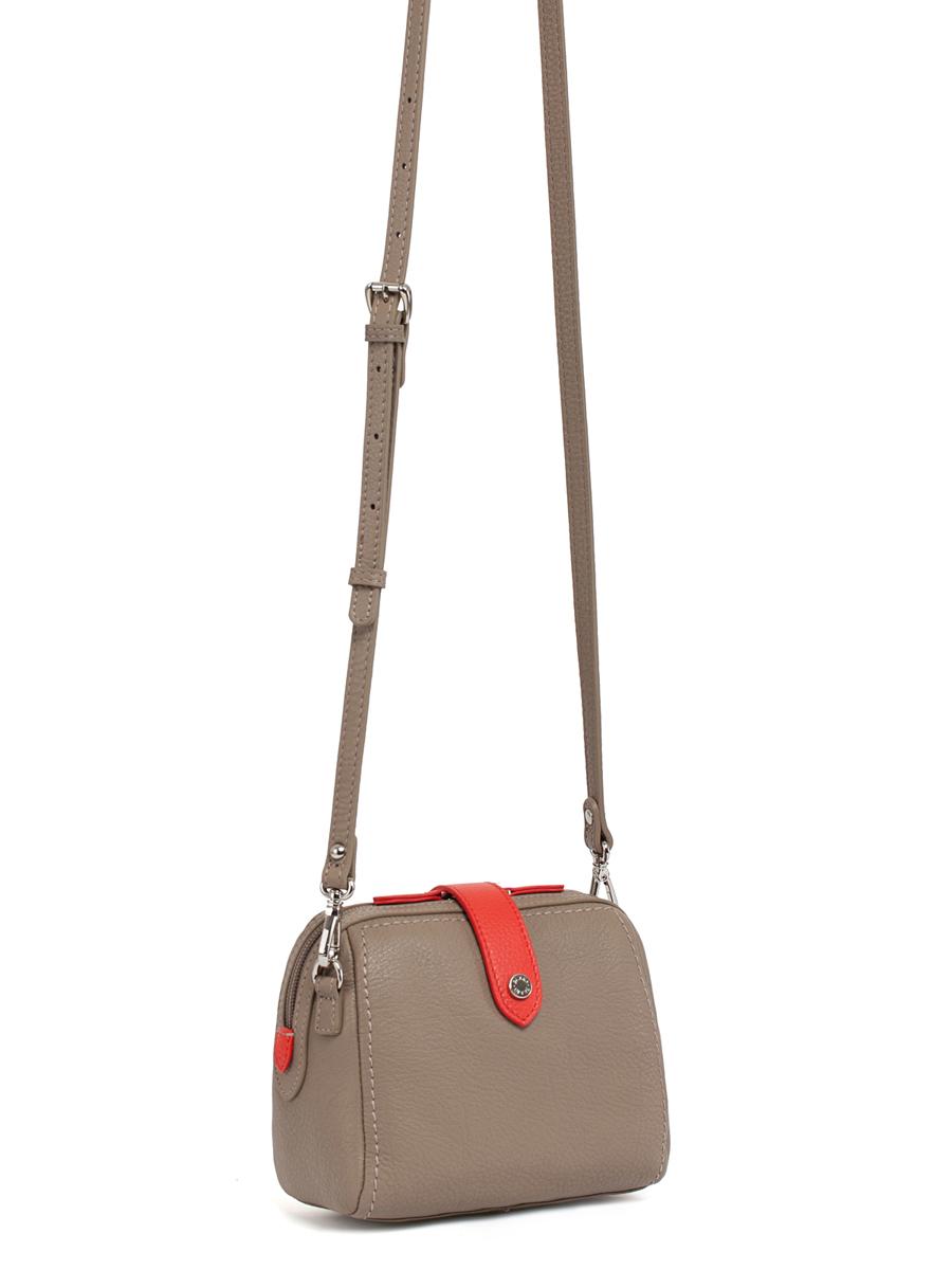 Сумка кросс-боди жен. Palio, цвет: серо-коричневый, красный. 12435AL-W112435AL-W1