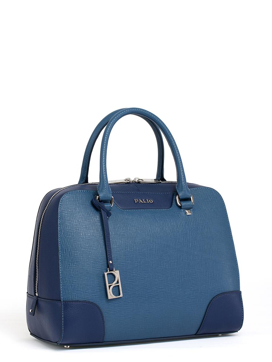 Сумка женская Palio, цвет: темно-синий, синий. 14387A2-W214387A2-W2Женская сумка Palio изготовлена из натуральной кожи с фактурным тиснением. Сумка закрывается на круговую застежку-молнию с двумя бегунками. Сумка имеет одно основное отделение, в котором есть два кармана на застежках-молниях, два кармана для телефона и мелких принадлежностей и открытый карман. Снаружи, с тыльной стороны сумки расположен вшитый карман на застежке-молнии. Изделие оснащено двумя удобными ручками, длинным наплечным ремнем и декорировано съемным брелоком с логотипом фирмы. Основание сумки дополнено четырьмя металлическими ножками, защищающими изделие от механических повреждений. Элегантная и вместительная сумка Palio прекрасно дополнит ваш образ и подчеркнет неповторимый стиль.