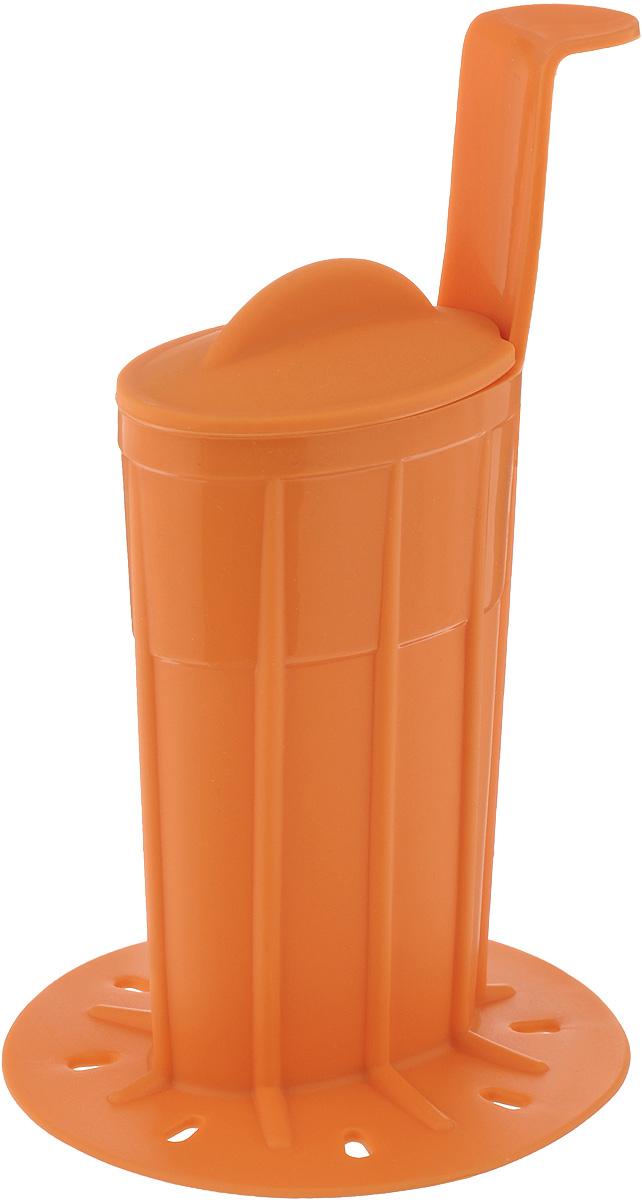 Формочка для покрытия глазурью мороженого Tescoma Bambini, цвет: оранжевый668226_оранжевыйФормочка Tescoma Bambini изготовлена из высококачественного термостойкого силикона. Изделие прекрасно подойдет для покрытия глазурью мороженого Bambini. Сделать это достаточно просто. Глазурь растопите в формочке на водяной бане или в микроволновой печи, и опустите в нее мороженое. Изделие оснащено крышкой для хранения неиспользованной глазури в холодильнике. Можно использовать в микроволновой печи, холодильнике и морозильной камере. Можно мыть в посудомоечной машине. Размер формочки (без учета ручки и основания): 7,5 х 4,5 х 11 см. Длина ручки: 5 см. Диаметр основания: 9,7 см.