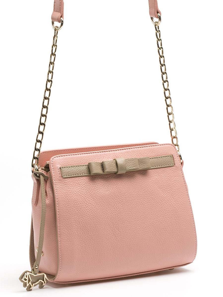 Сумка кросс-боди жен. Labbra, цвет: светло-розовый, серо-коричневый. L-DA81215L-DA81215