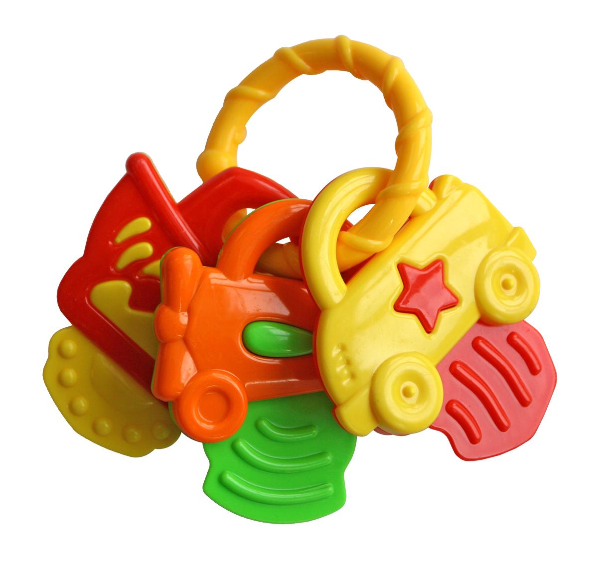 Lubby Погремушка Ключики-машинки14782Игрушка - погремушка приятно звенит Форма позволяет Малышу удобно держать ее пальчиками самостоятельно. Игрушка - погремушка не имеет поверхностного окрашивания.