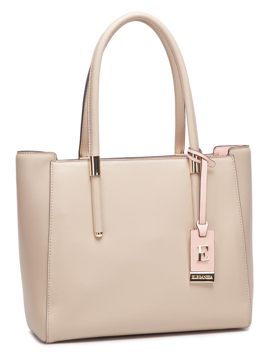 Сумка жен. Eleganzza, цвет: темно-бежевый, светло-розовый. Z-2750-1Z-2750-1