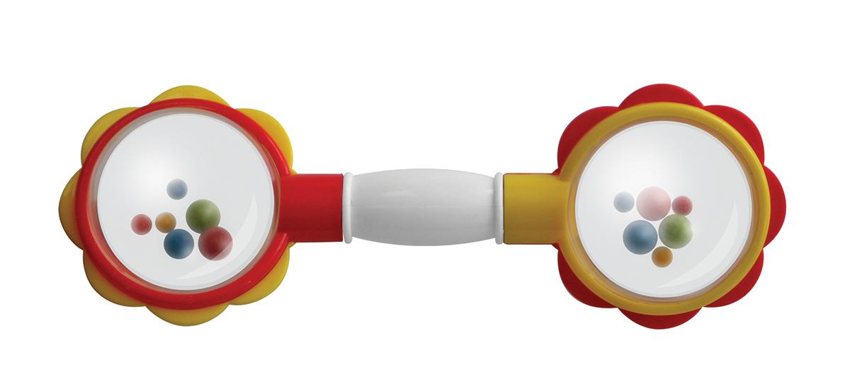 Lubby Погремушка Гантелька14367Игрушка - погремушка приятно звенит. Форма позволяет Малышу удобно держать ее пальчиками самостоятельно. Игрушка - погремушка не имеет поверхностного окрашивания.