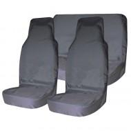 Комплект грязезащитных чехлов на передние и заднее сиденья Tplus, с мешком для хранения, цвет: серый, 3 штT001267Материал: оксфорд; Цвет: серый; Наличие кармана на тыльной стороне: да; Количество чехлов: 3 шт.; Мешок для хранения: 1 шт.