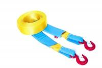 Динамический строп Tplus Стандарт, рывковый, крюк/крюк, 6 т, 5 мT001649Нагрузка на разрыв, не менее: 6 т; Длина: 5 м; Ширина ленты: 70 мм; Материал ленты: полиамид; Защита петель: экокожа; Защита швов: экокожа; Эластичность (удлинение при нагрузке): 20%; Исполнение: крюк/крюк; Применяется для а/м массой* до 1800 кг *снар. масса + 100 кг