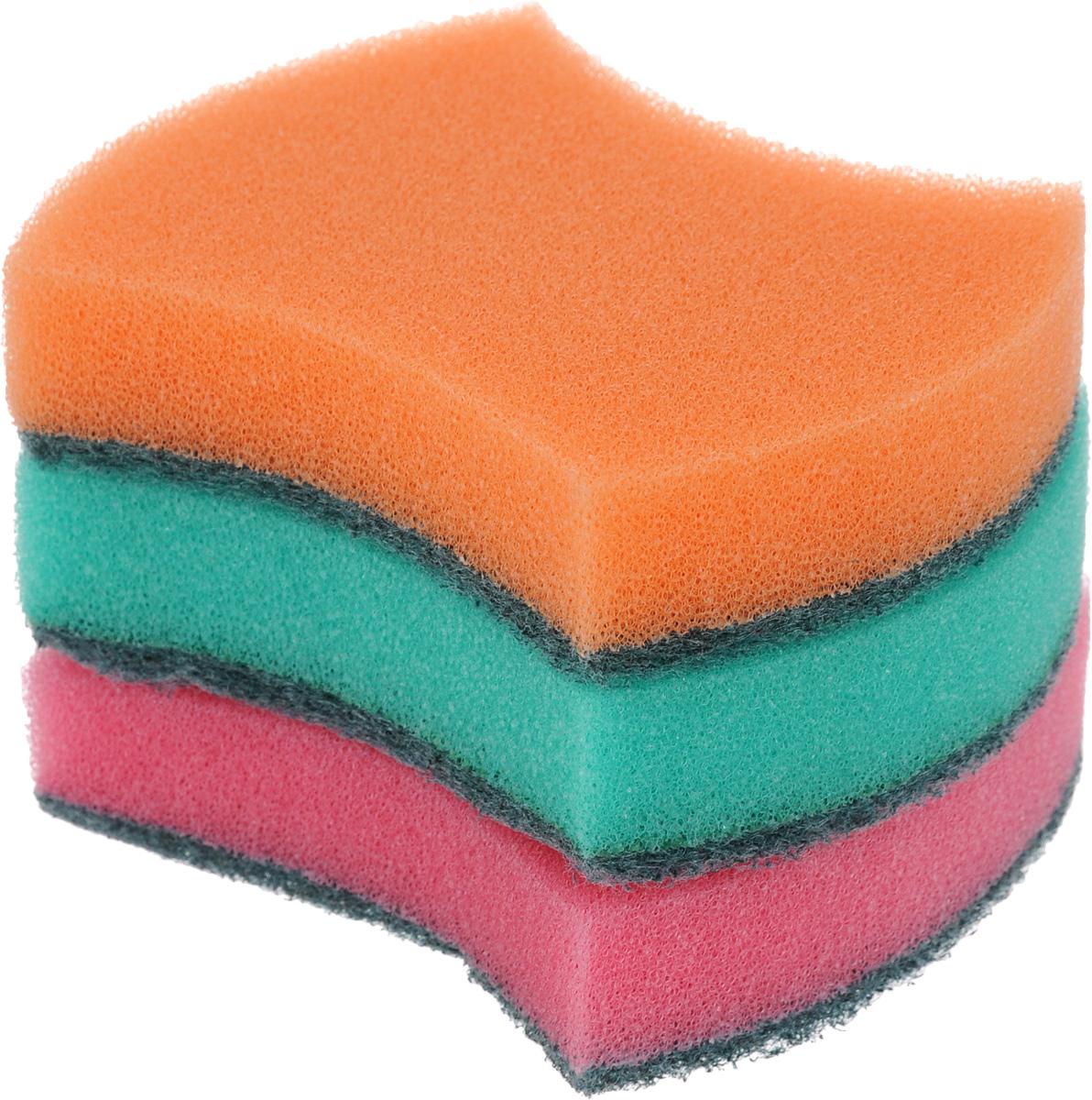 Губка универсальная Фэйт Модерн, 3 шт1.4.01.008Универсальная губка Фэйт Модерн, изготовленная из особо прочного поролона и абразива, прекрасно впитывает влагу, не оставляет ворсинок и разводов, быстро сохнет. Предназначена для мытья любых поверхностей. Размер губки: 9 х 7 х 2,5 см. Комплектация: 3 шт.