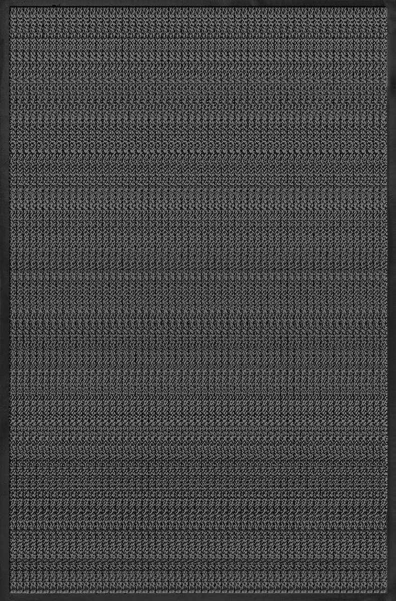 """Коврик придверный Vortex """"Профи"""", влаговпитывающий, цвет: темно-серый, 120 х 150 см"""