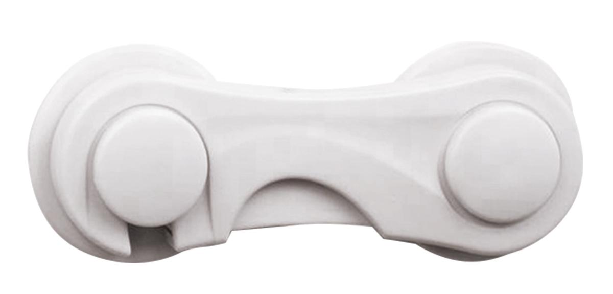 Lubby Защитный замок для створок шкафчиков13576Замок не позволит ребенку открыть створки шкафчиков и прищемить пальцы. Крепится на деревянные, пластмассовые, а также стеклянные поверхности.